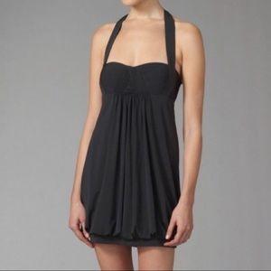 BCBGMaxAzria Halter Bubble Mini LBD Dress